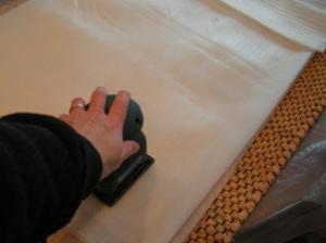 Using a Hand Held Sander for Wet Felting Tutorial