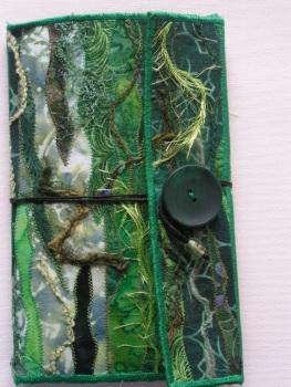 Free Motion Machine Stitched Notebook