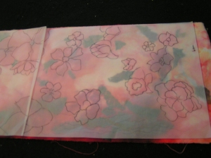 Tracing Paper Flowers Bottom