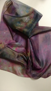 Silk dyed by Ruth Lane
